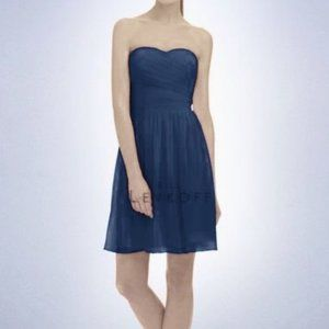 Bill Levkoff Navy Blue Sweetheart Strapless Dress
